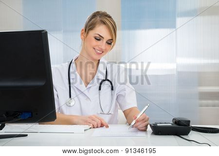 Happy Young Female Doctor