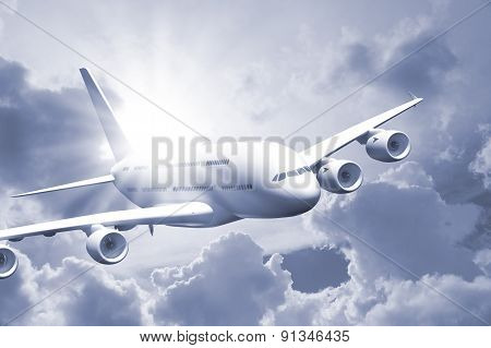 Passenger Air Plane Flying