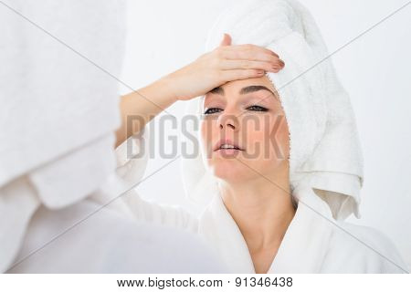 Woman Suffering From Fever