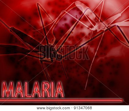 Abstract background digital collage concept illustration malaria mosquito disease