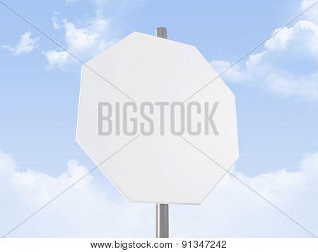 Octagon Road Sign