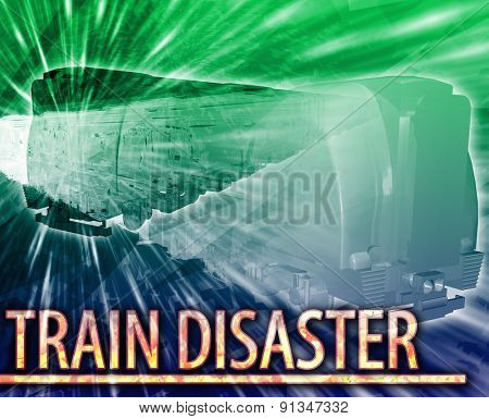 Abstract background digital collage concept illustration train disaster rail