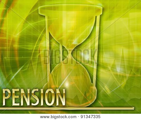 Abstract background digital collage concept illustration pension retirement fund