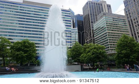 Fountain at LOVE Park in Philadelphia, USA