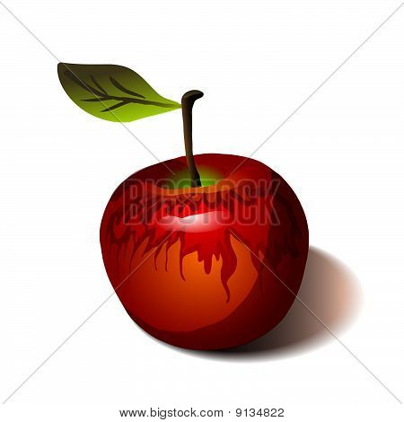 Red Apple Isolated On White.eps