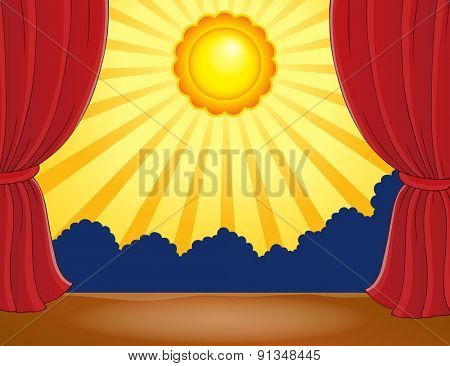 Stage with abstract sun 1 - eps10 vector illustration.