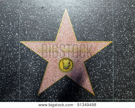 George Marshalls Star On Hollywood Walk Of Fame