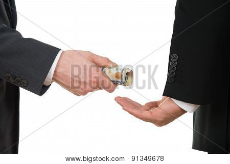 Businessman Taking Bribe