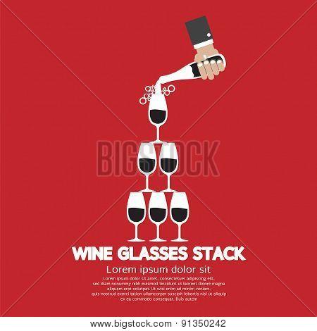 Wine Glasses Stack.