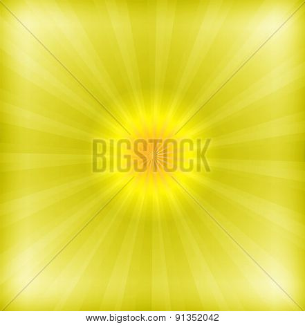 Yellow background with lens flare