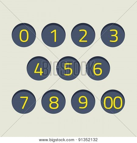 Modern Style Numbers Set.
