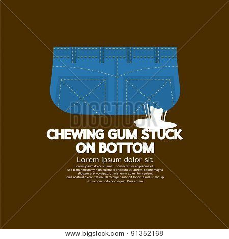 Chewing Gum Stuck On Bottom.