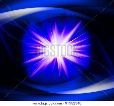 Blue color design with a burst design illustration template