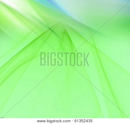 Light green background with rays light blur