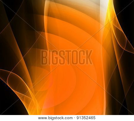Orange and black Background design, abstract backdrop
