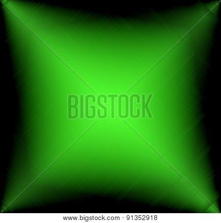 Green digital light on black background