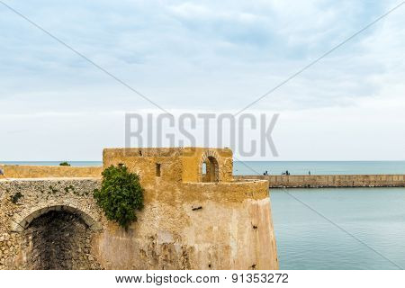 Fortress of Mazagan in a historic city on the Atlantic coast of Morocco, in the province of El Jadida.