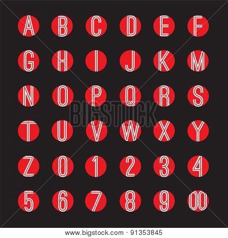 Modern Style Alphabets Set.