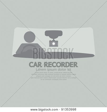 Car Recorder Graphic Symbol.