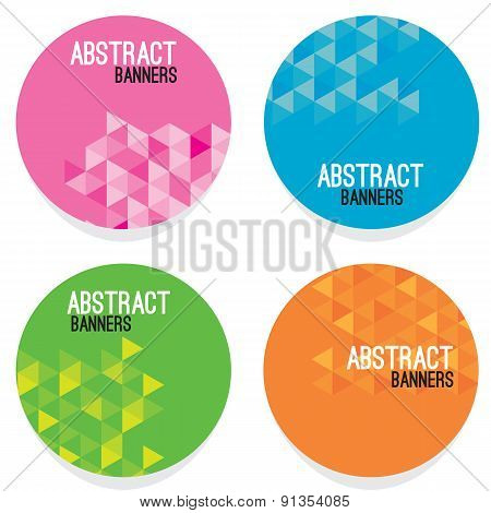 Set Of Four Abstract Banners.