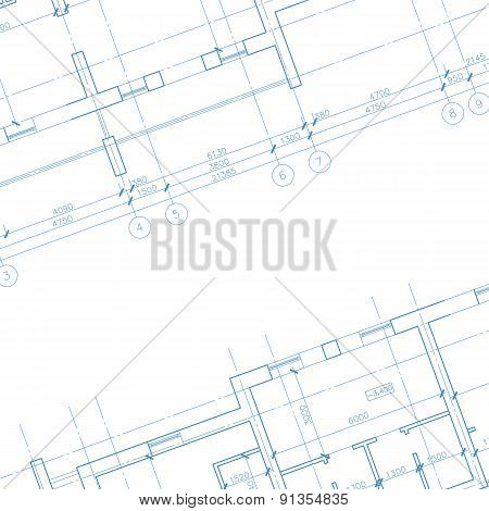 Architecture blueprint background