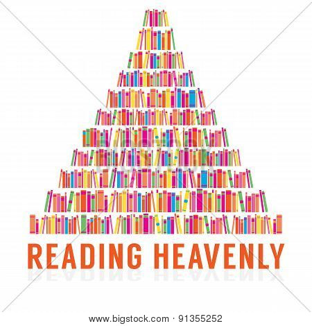 Reading Heavenly Colorful Books Stacks.