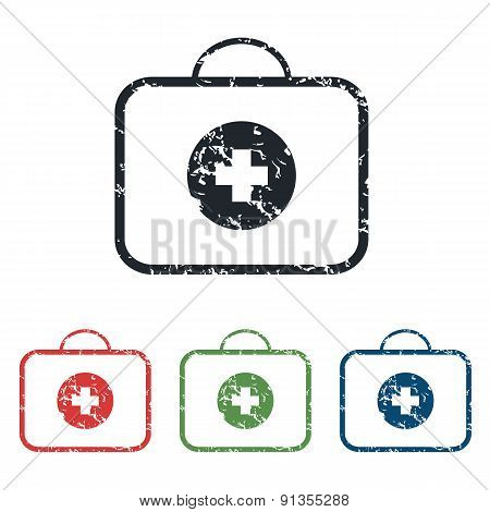 First aid grunge icon set