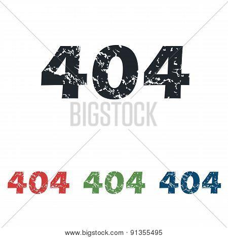Error 404 grunge icon set