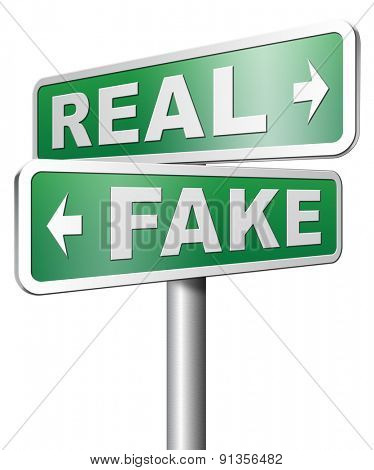 fake versus real possible or impossible reality check searching truth