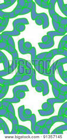 Seamless Segmented Green Shapes