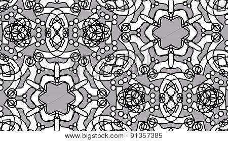 Repeating White Kaleidoscope Stars