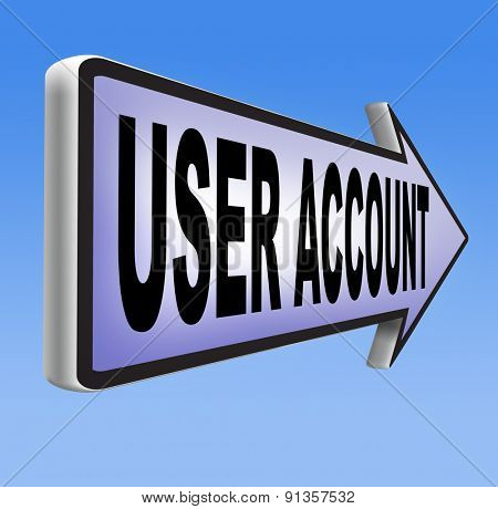 Your user account member registration navigation open or create membership profile