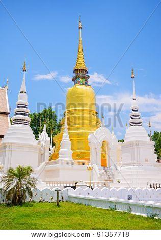 Wat Suan Dok (monastery) in Chiang Mai Thailand.