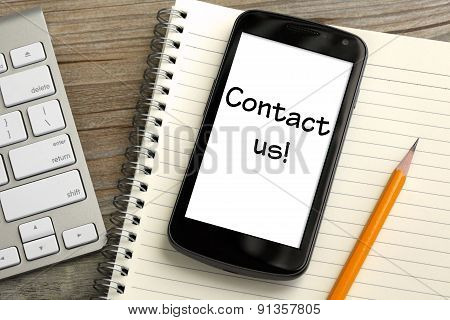 concept of Contact us