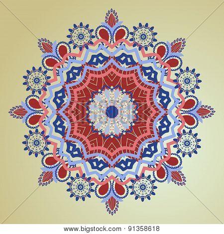 Patterns Round Ornament. Decorative Elements