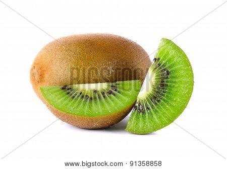 Kiwi Fruit Isolated On The White Background
