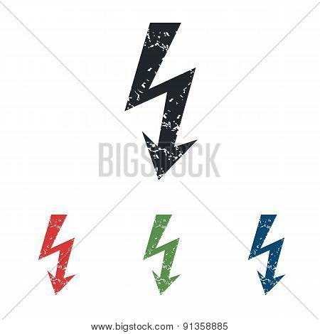 Voltage grunge icon set