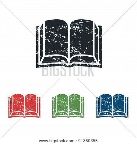 Book grunge icon set