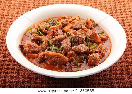 Spicy meat dish.