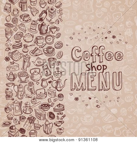 Hand Drawn Coffee Background
