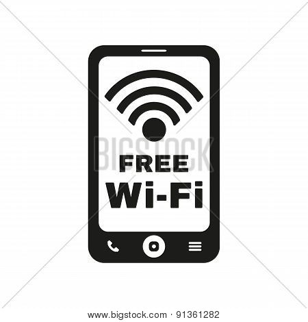 The Wifi Icon. Free Wifi Symbol. Flat