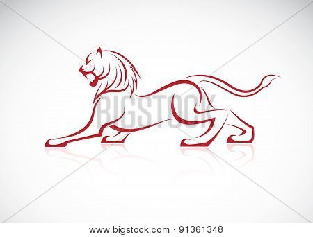 Vector Image Of An Lion Design On White Background