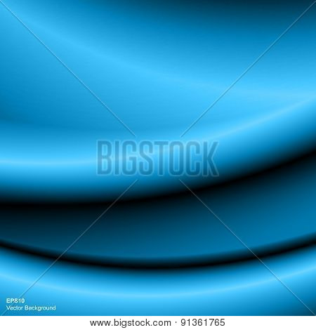 Abstract blue wave background.