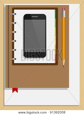 Creative Office Workplace Concept. Vector Illustration.