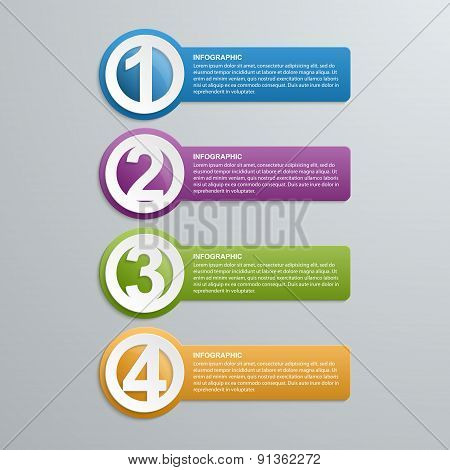 Abstract Creative Numbered Infographic.
