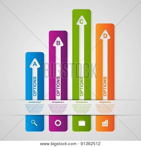 Abstract Options Infographic. Design Element. Vector Illustration.