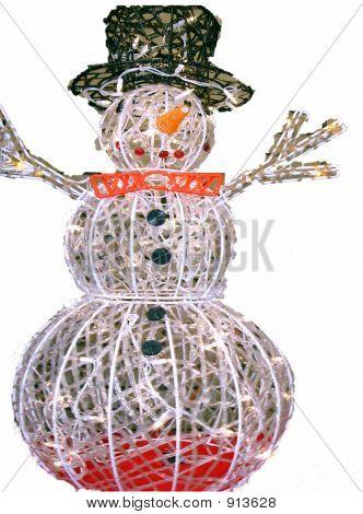 Lit Up Snowman