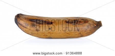 Old Banana Isolated On The White Background