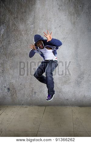 Man Jumping and Being Funny