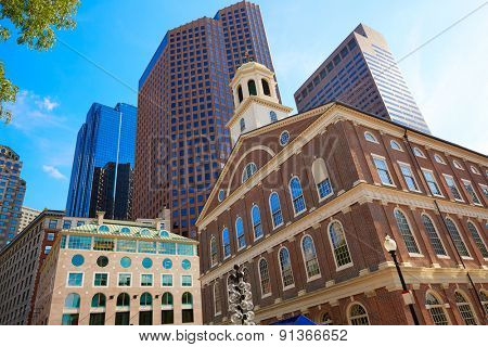 Boston Faneuil Hall marketplace in Massachusetts USA
